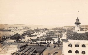 Singapore Malaya Harbor and Beach Scene Real Photo Postcard JI658412