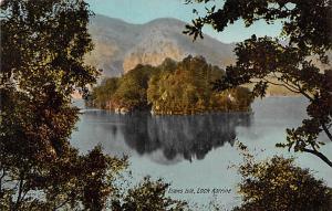 Scotland, UK Old Vintage Antique Post Card Ellens Isle Loch Katrine Unused