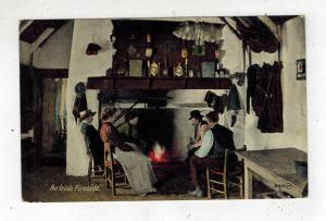 Mint Real Picture Postcard Ireland Irish Fireside People in Home
