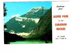 Greetings from Mount Cavell Jasper Park, Alberta,