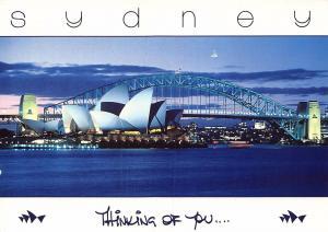 Australia Sydney Opera House and Harbour Bridge Postcard