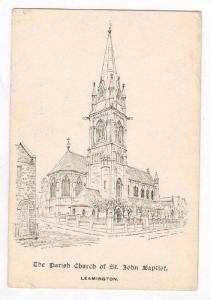 Sketch, Exterior, Parish Church, St. John Baptist, Leamington, England, 00-10s