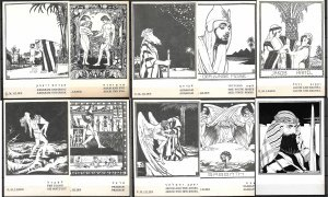 JUDAICA. ISRAEL. BIBLE ILLUSTRATION BY E. LILIEN.  ART NOUVEAU 10 POSTCARDS 1982