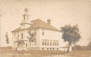 G22/ Alden New York RPPC Postcard c1910 High School Building