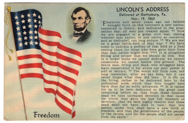 Lincoln's Address, Delivered at Gettysburg, Pa, Nov. 19, 1863