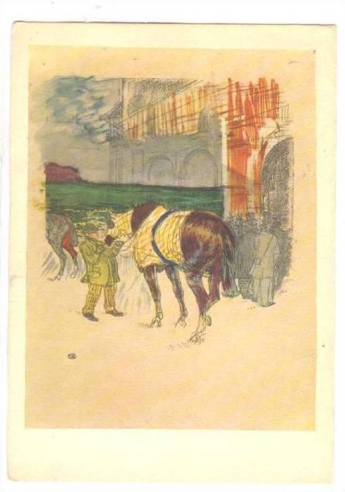 H. de TOULOUSE-LAUTREC , The Paddock , 50-70s