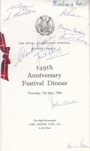 Scottish Caledonian Schools Opera Hertfordshire Hand Signed Vintage Herts Din...