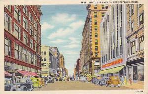 Nicollet Avenue, F. W. Woolworth Co., Etc., Minneapolis, Minnesota, 1930-1940s