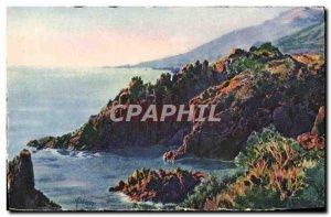 Old Postcard La Douce France Cote D & # 39Azur The Rocks From Trayas