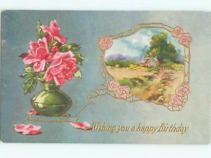 Divided-Back BEAUTIFUL FLOWERS SCENE Great Postcard AA2197