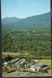 New Hampshire NORTH CONWAY Air View of Junge's Motel - Chrome 1950s-1970s