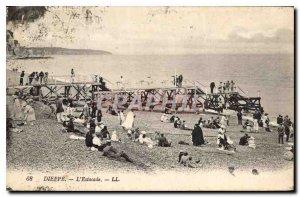 Old Postcard Dieppe Pier