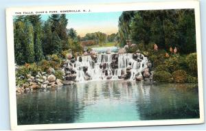 Somerville New Jersey NJ Duke's Park The Falls Waterfall Vintage Postcard D22