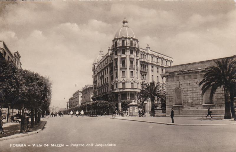 FOGGIA, Italy , 1910s-30s - Viale 24 Maggio - Palazzo dell'Acquedotto