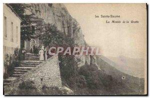 Old Postcard La Sainte Baume La Montee de la Grotte