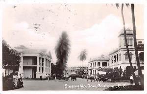 Panama Old Vintage Antique Post Card Steamship Row Cristobal Postal Used Unkn...