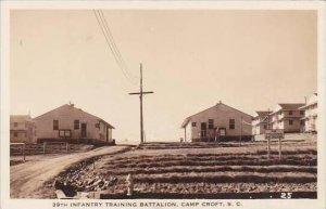 South Carolina Camp Croft 39th Infantry TRaining Battalion 1944 Real Photo RPPC
