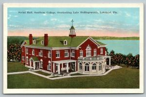 Lakeland Florida~Southern College Social Hall~Lake Hollingsworth~1920s Postcard