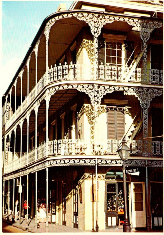 Louisiana New Orleans Lace Balconies