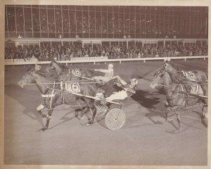 WINDSOR Raceway Harness Horse Race, L W JOHNSTON Wins Race