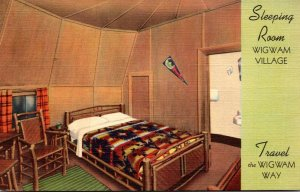 Kentucky Horse Cave Wigwam Village No 1 Sleeping Room Curteich