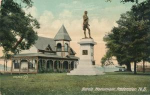Burn's Monument at Fredericton NB, New Brunswick, Canada - pm 1910 - DB