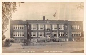 West Salem Wisconsin High School Real Photo Antique Postcard K94797