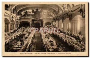 Old Postcard Belgium Passy Froyennes the room PREPARED's holiday banquet of &...
