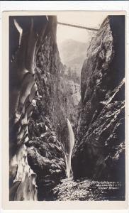 Switzerland Hoellentalklamm mit Wasserfall und Hoher Bruecke Photo