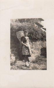 RP: LUGANO , Switzerland , 1930s ; Local Woman