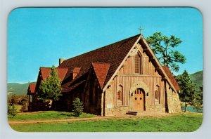 Estes Park CO Our Lady Of The Mountains Church Lake Chrome Colorado Postcard