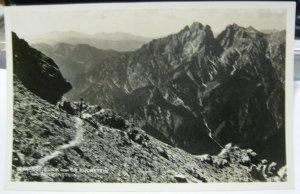 Austria Gesause Blick vom GR Buchstein zum Reichenstein RPPC - unposted 1