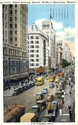 Hill St. Los Angeles CA 1933, Missing Stamp
