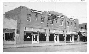 King City California street scene Vendome Hotel antique pc Y11423