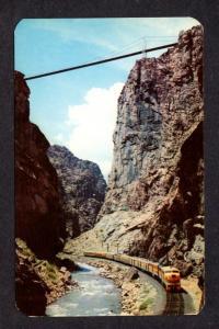 CO Diesel Railroad Train Royal Gorge Bridge nr Canon City Colorado Postcard RR