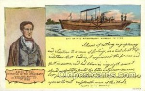 John Fitch, Inventor of Steam Boat Steamboat, Ship Unused