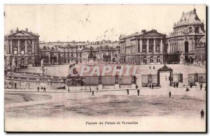 Old Postcard Facade of the Palace of Versailles