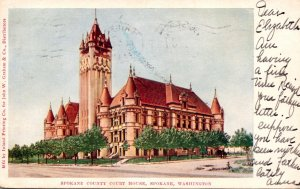 Washington Spokane County Court House 1906