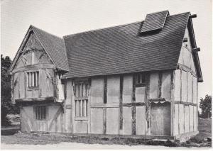 Postcard Worcestershire Bromsgrove 15th Century House Avoncraft
