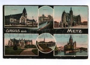 173335 FRANCE GRUSS aus METZ Vintage military post RPPC