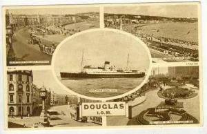 Douglas, isle of Mann, 5-view postcard. PU-1958