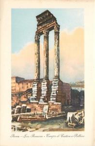 Roman Forum Temple of Castor and Pollux Italy Postcard