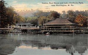 G54/ Huntington West Virginia Postcard '11 Casino Boat Clyffeside Park