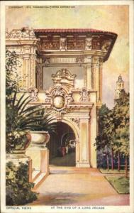1914-15 Panama California Expo End of Arcade Postcard