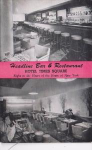 New York City Hotel Times Square Headline Bar & Restaurant