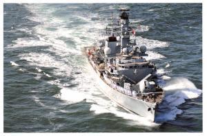 Postcard Royal Navy Ship Type 23 Frigate HMS Kent 37C