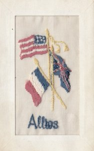 Embroidered 1914-18 ; Allies' Flags : #2