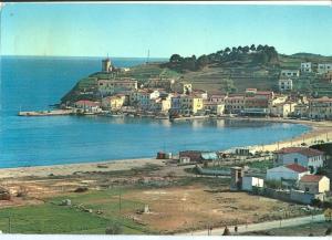 Italy, Isola d'Elba, Marina di Campo, Panorama, 1959 used Postcard