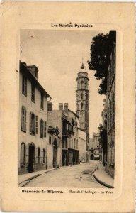 CPA BAGNERES-de-BIGORRE - Rue de l'Horloge - La Tour (110021)