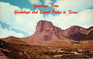 Texas Greetings From Guadalupe and Signal Peaks